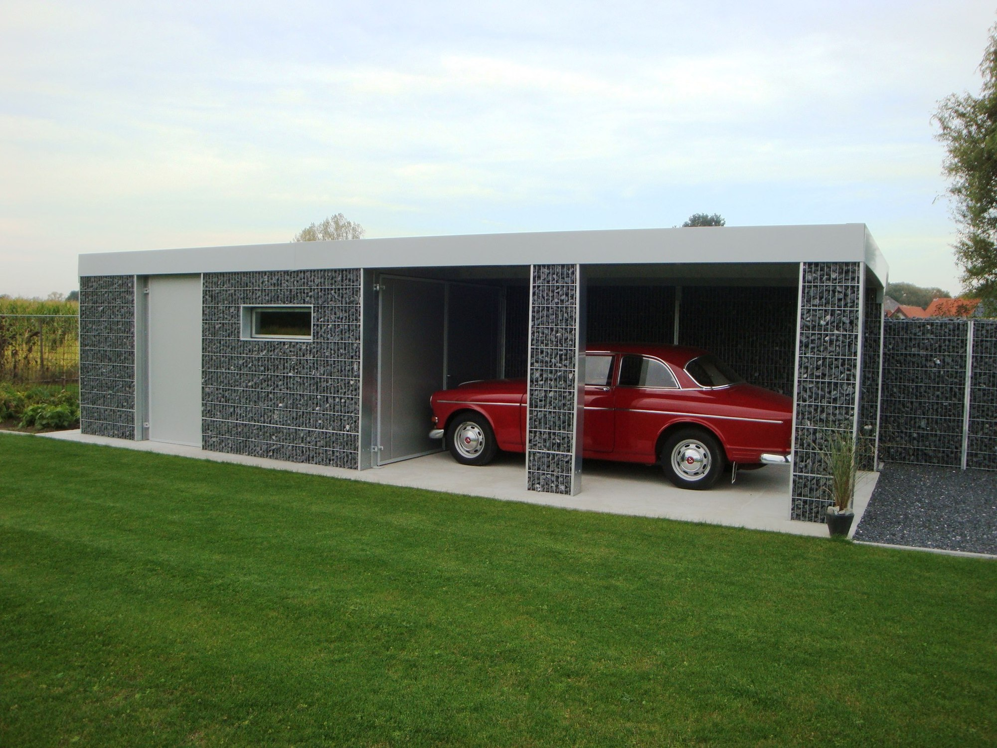 pin carport met berging on pinterest. Black Bedroom Furniture Sets. Home Design Ideas