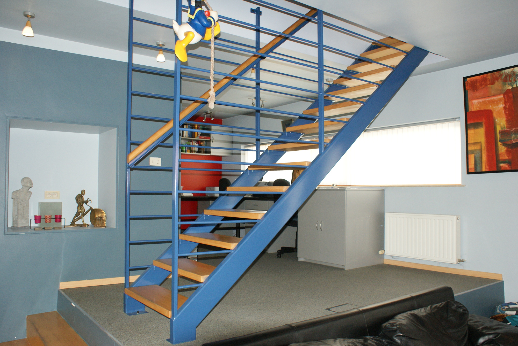 Trappen bilzen limburg metaalwerken - Binnen trap ...